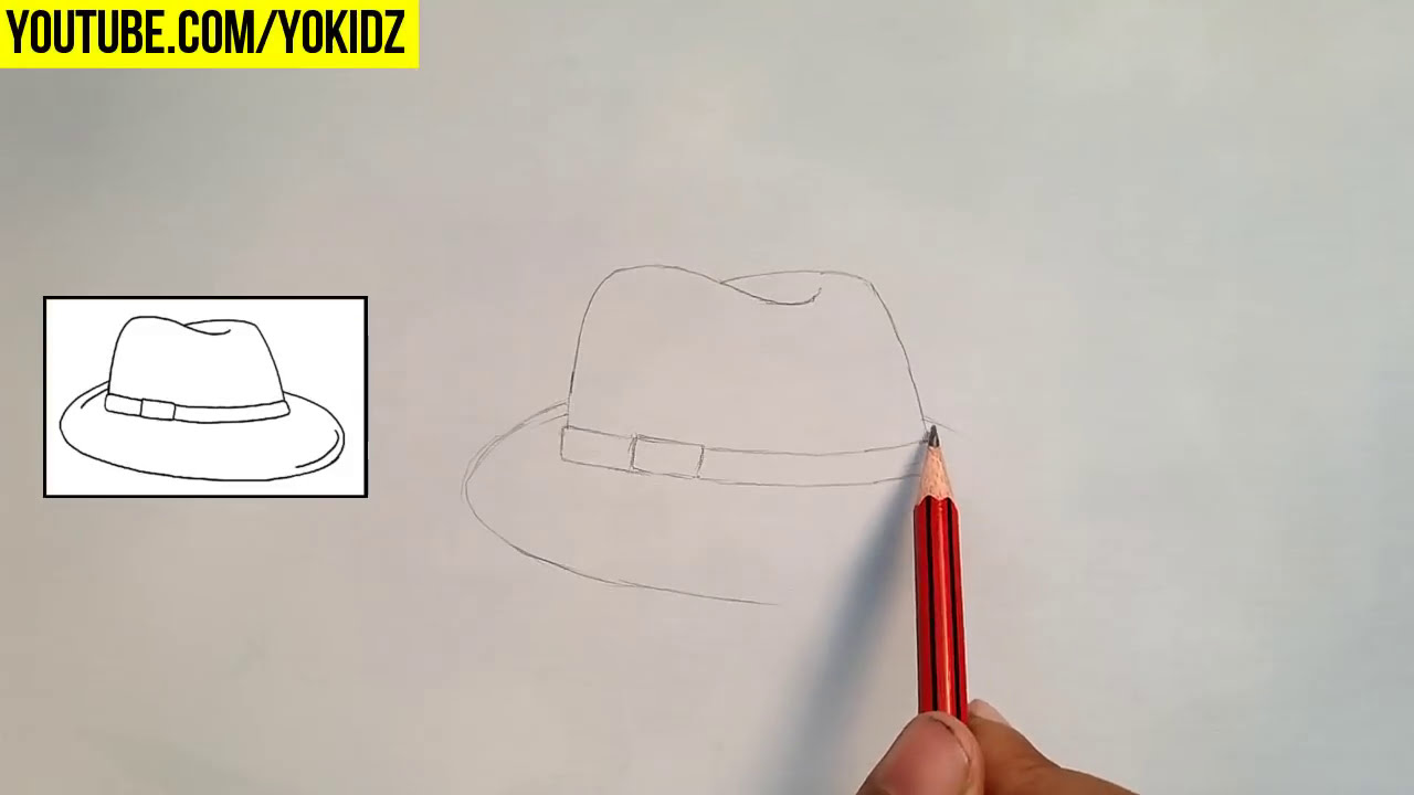 How To Draw Hat For Kids Youtube