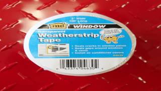 3M Interior Transparent Weather Sealing Tape 1.5 Inch by 10 Yard