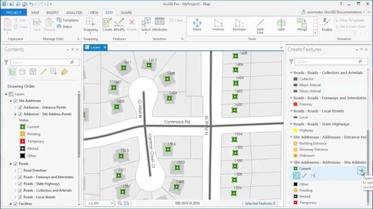 ArcGIS Pro: Edit with Feature Templates