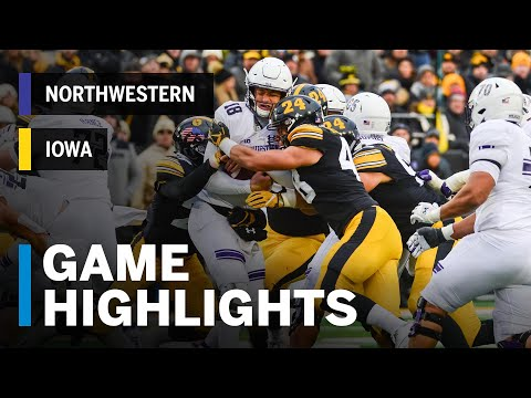 Highlights: Northwestern Wildcats vs. Iowa Hawkeyes | Big Ten Football
