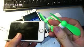 Quạt mini lắp cổng usb cho Iphone, Ipad, Android - Hàng Hot