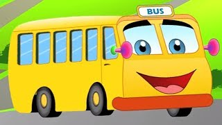 The Wheels On The Bus | English Nursery Rhymes For Kids & Children's | Baby Songs