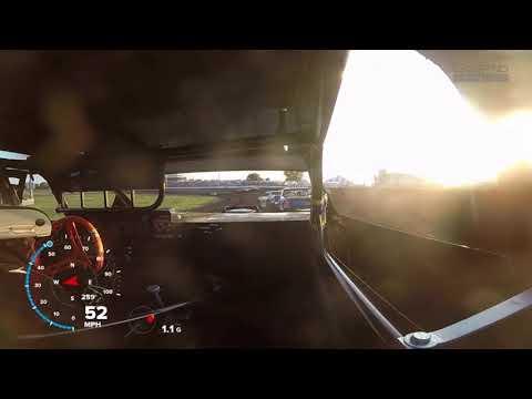 7-27-18 Hancock County Speedway Stock Car Heat In-Car
