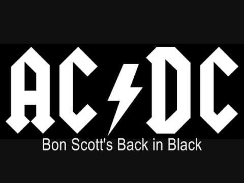 Bon Scott's Back in Black