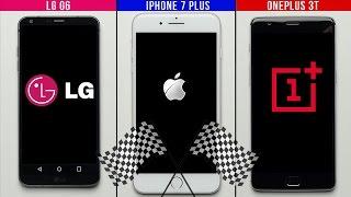 LG G6 vs. iPhone 7 Plus vs. OnePlus 3T Speed Test