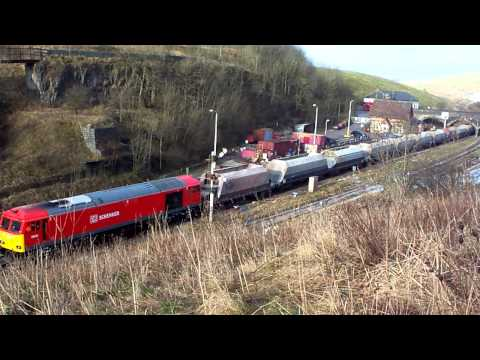 Ex works DBSchenker 60020 on 6H60 Hope Street-Peak Forest filmed from the field 12/01/2012