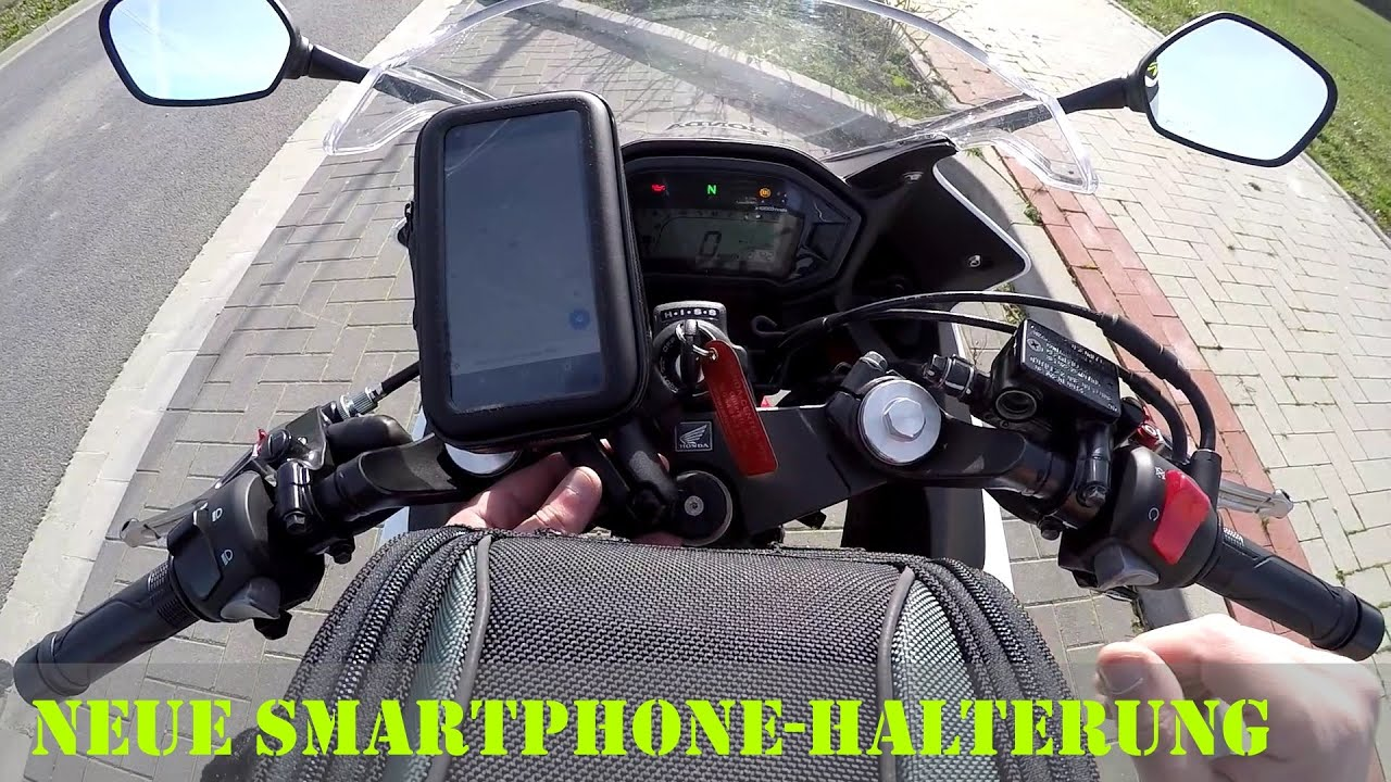 neue smartphone halterung am motorrad ausprobiert deutsch. Black Bedroom Furniture Sets. Home Design Ideas