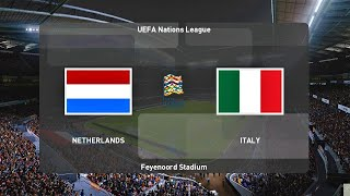PES 2020 NETHERLANDS vs ITALY UEFA Nations League 2020 Gameplay PC