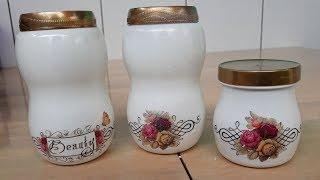 Pote de Condimentos Estilo Porcelana com Vidros Reciclados