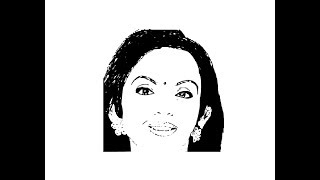 How to draw Nita Ambani face pencil drawing step by step