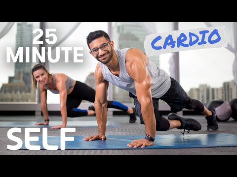 25 Minute Full Body Cardio Workout No Equipment With Warm-Up and Cool-Down | SELF