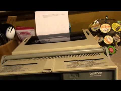 AWESOME Brother word processor from 1987!