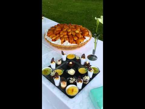 buffet vin d 'honneur extérieure eliza cook