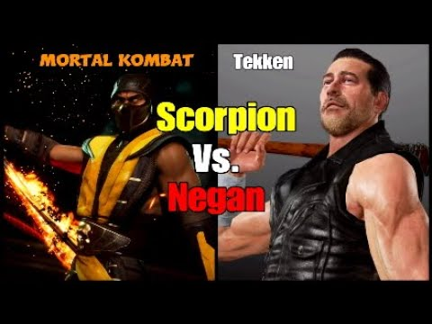 Mortal Kombat 11 Tekken 7 Scorpion Vs Negan Gameplay Youtube