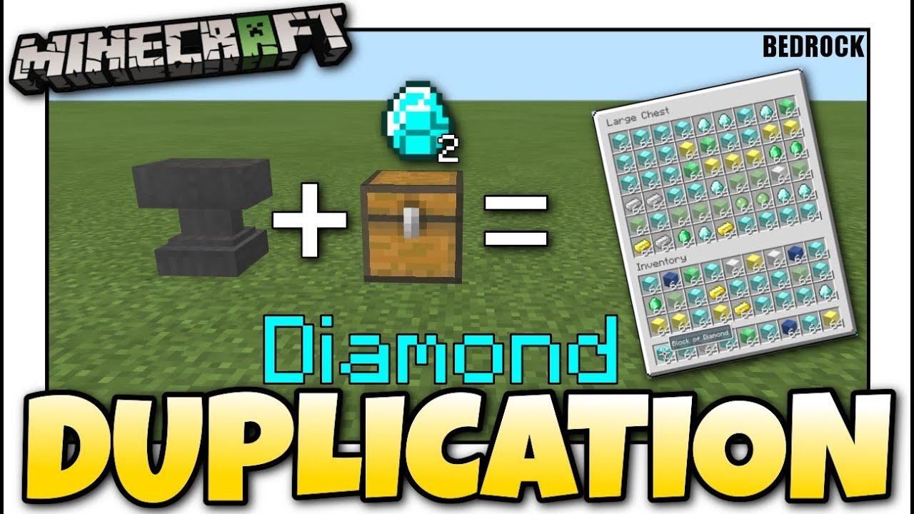 Minecraft Bedrock💎 DUPLICATION GLITCH 💎💎EASY💎💎 Tutorial