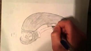 alien xenomorph easy draw