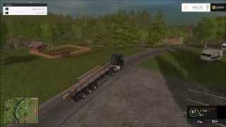 Farming Simulator 2015 [ How To Sell Timber At The Lumber Yard ]