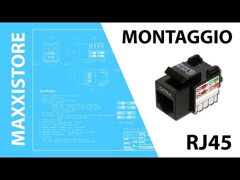 Schema Cablaggio Rete Lan : Guida al collegamento di una presa rete rj45 keystone youtube