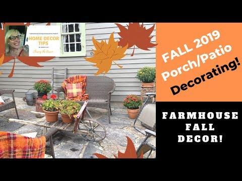 Fall 2019 Patio/Porch Decorating Ideas, COZY!