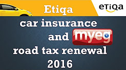 Etiqa Takaful Insurance and myeg Road Tax Renewal payment via online Maybank2u 2016