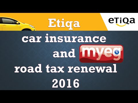 Etiqa Takaful Insurance and myeg Road Tax Renewal payment via online Maybank2u 2016