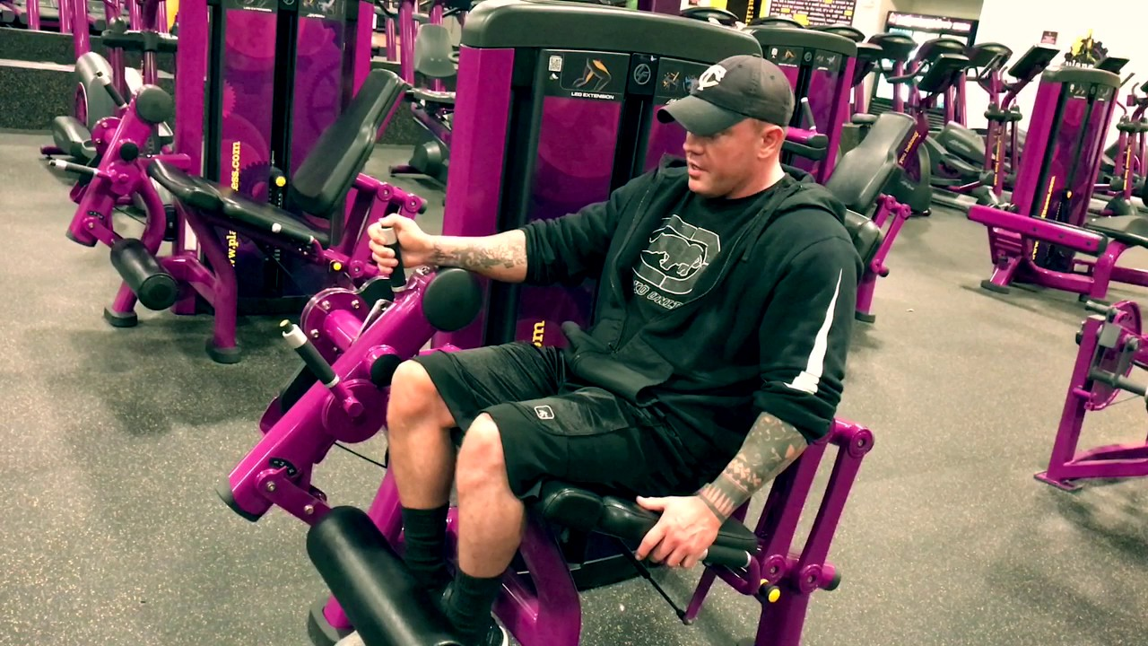 Planet fitness how to use leg extension machine youtube