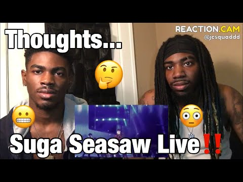 180825 Love Yourself Concert  Trivia 轉 : Seasaw SUGA Focus | 4k REACTION!!!