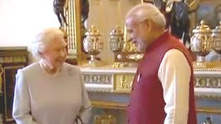 PM Modi at Buckingham Palace for lunch with the queen