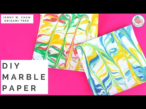 How to Make Marble Paper - Make Your Own DIY Paper for Paper Crafts, Origami, Scrapbooking, etc.