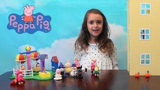 Peppa Pig: Halloween Costume Parade Story with Peppa Pig Happy Family House and Balloon Ride