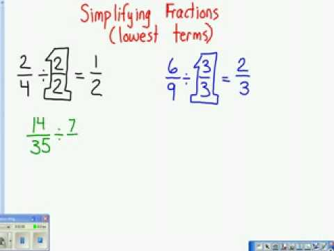 how do you write a fraction in simplest form Fraction lesson: how to simplify fractions this short lesson shows two different methods for simplifying fractions  write the fraction in simplest form : 4: 5:.