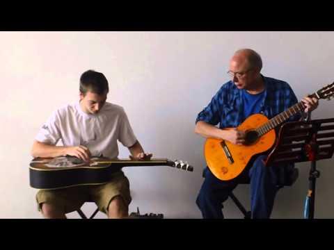 Anthony Liebich playing Dobro Slide Guitar Ames Iowa