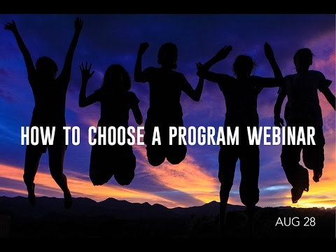 How To Choose a Program for 2017