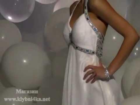 Длинное белое выпускное платье Terani T836 коллекция 2012г