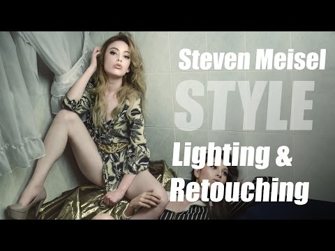 Steven Meisel Style Lighting Technique & Retouching Tips using StyleMyPic Pro Workflow Panel