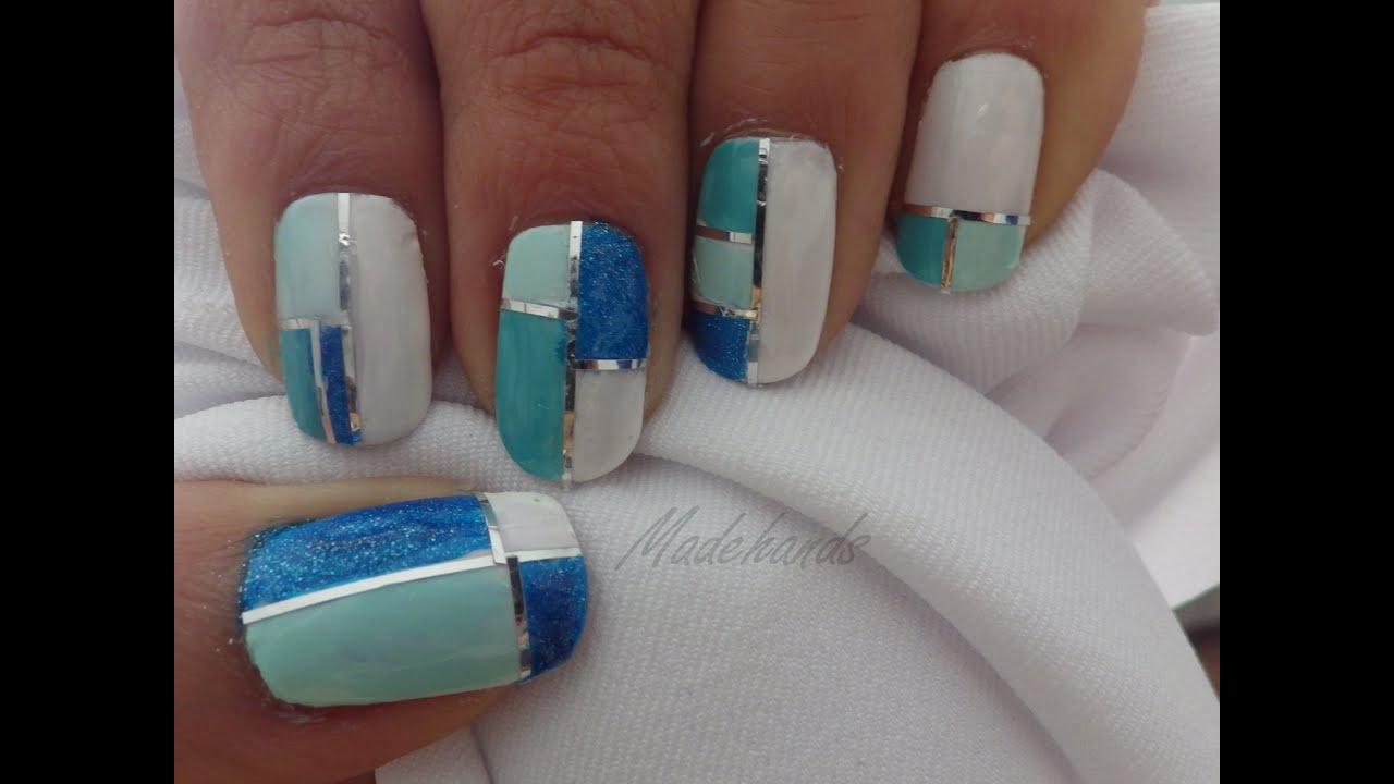 Color block nail art diseo de uas collage striping tape color block nail art diseo de uas collage striping tape nails youtube prinsesfo Image collections