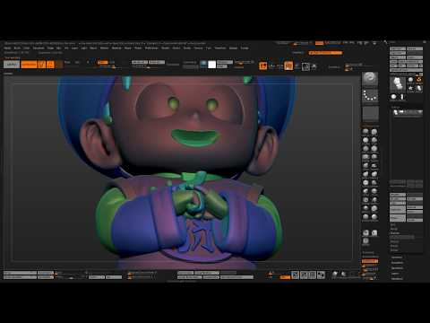 Hollowing out models for 3D printing using Zbrush 4r8 and Live Boolean