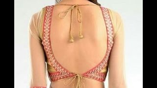 backless blouse cutting and stitching DIY |