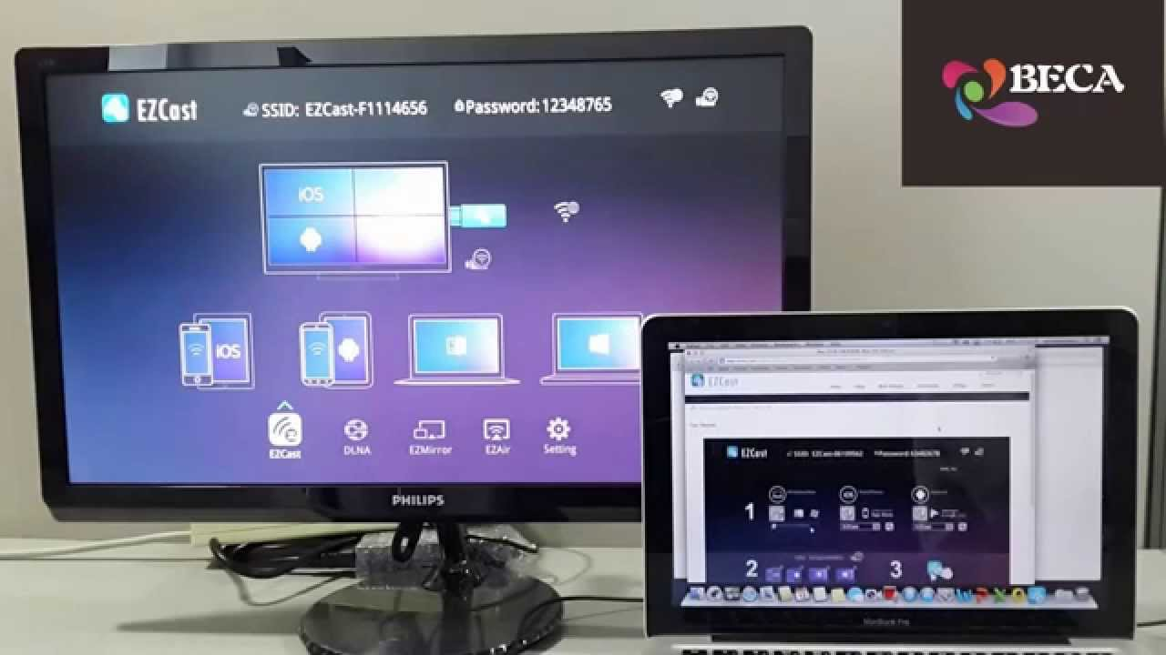 Ezcast Dongle Wireless Display Support Miracast Dlna