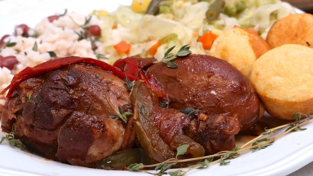 jamaican brown stew chicken village recipe  youtube
