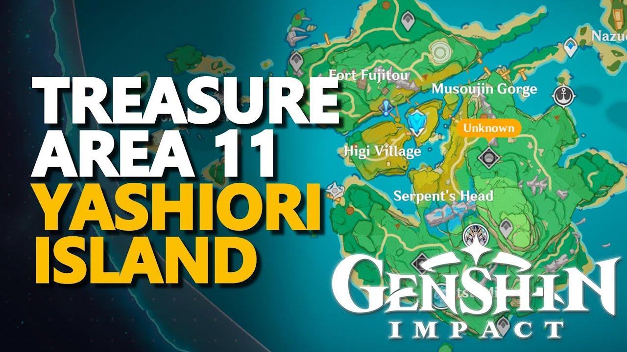 60 treasure area 4 fort fujitou, yashiori island: Treasure Area 11 Genshin Impact Youtube