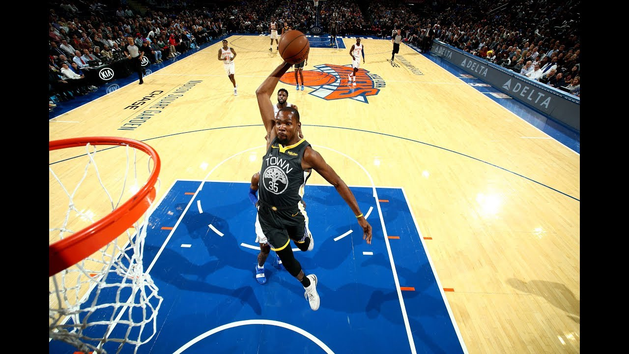 Kevin Durant Explodes for 25 Points in 4th Quarter vs. Knicks at MSG