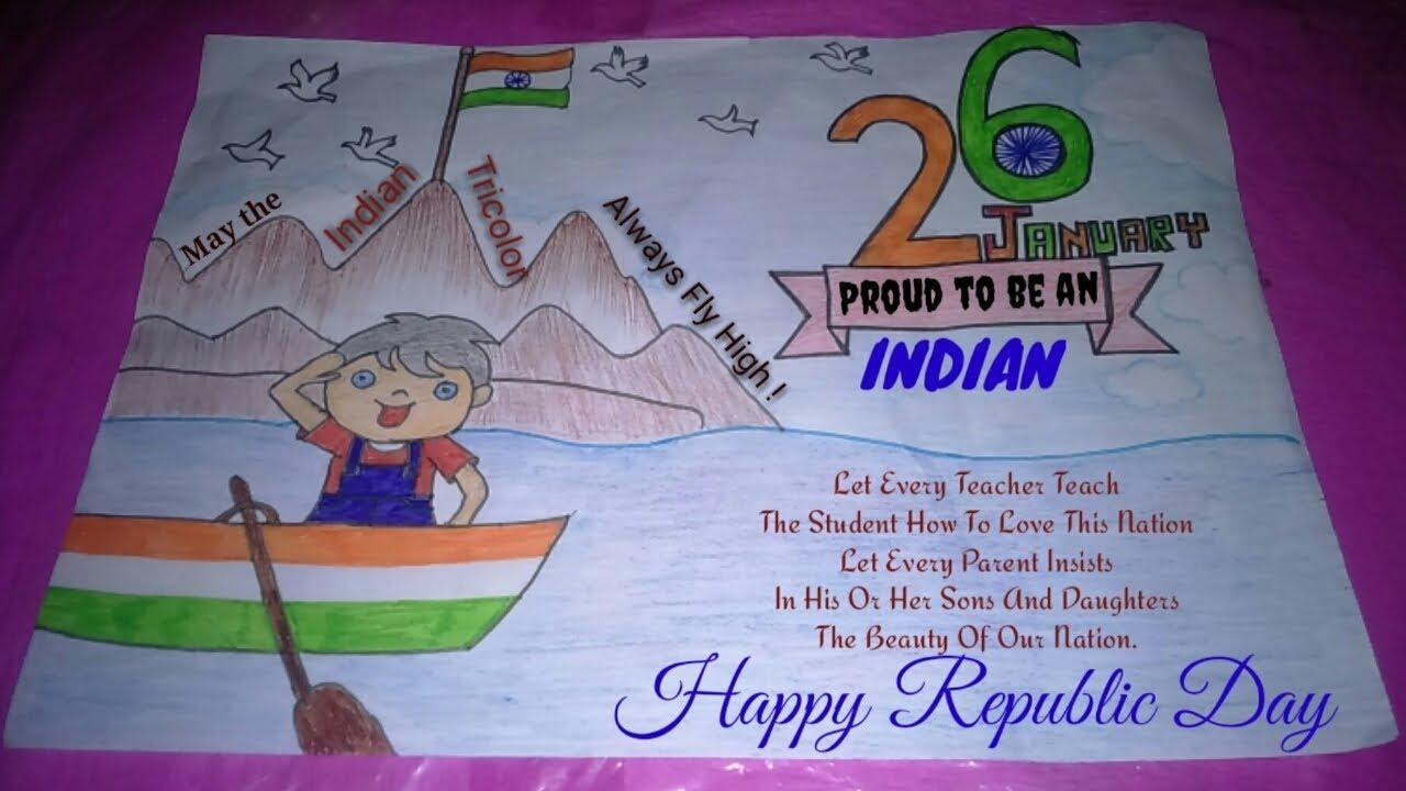 26 January ki drawing|Republic day chart|26 january ...