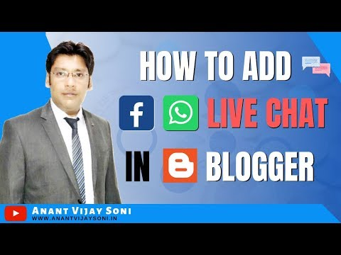How To Add Facebook And Whatsapp Messenger Live Chat In Blogger 2020 (Hindi)- Anant Vijay Soni