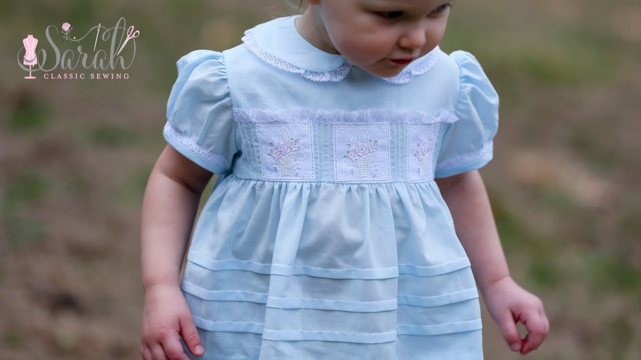 883c6ab1a9 Heirloom Easter Dress with Swiss Embroidered Baskets Sewing Tutorial