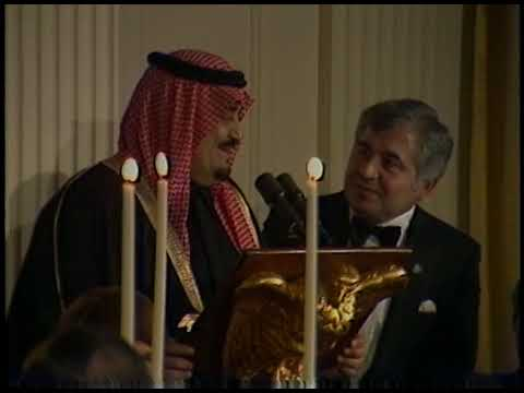 President Reagan and Saudi Arabian King Fahd's Toasts on February 11, 1985