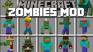 Minecraft MORE ZOMBIES MOD / BRING BACK TO LIFE FLESH EATING ZOMBIES!! Minecraft