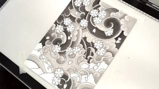 Drawing in Japanese Tattoo Style (time-lapse)