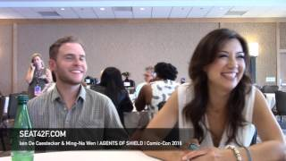 Iain De Caestecker & Ming Na Wen AGENTS OF SHIELD Interview Comic Con 2016