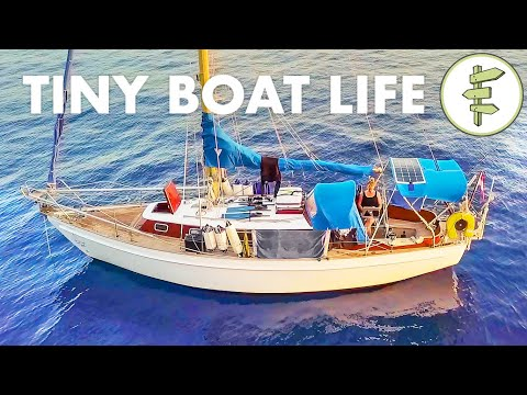 living-on-a-tiny-28ft-salvaged-sailboat-for-2-years-+-boat-tour